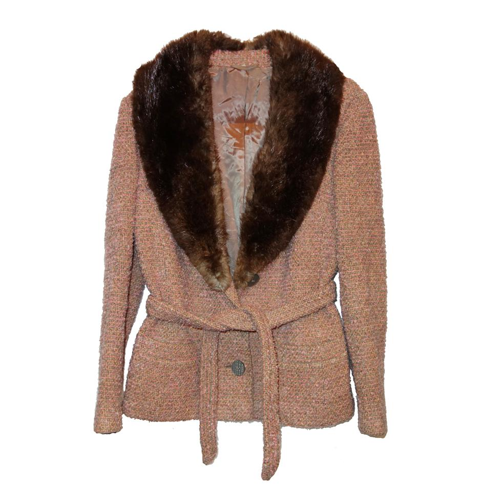 Vestes - Veste en tweed col renard