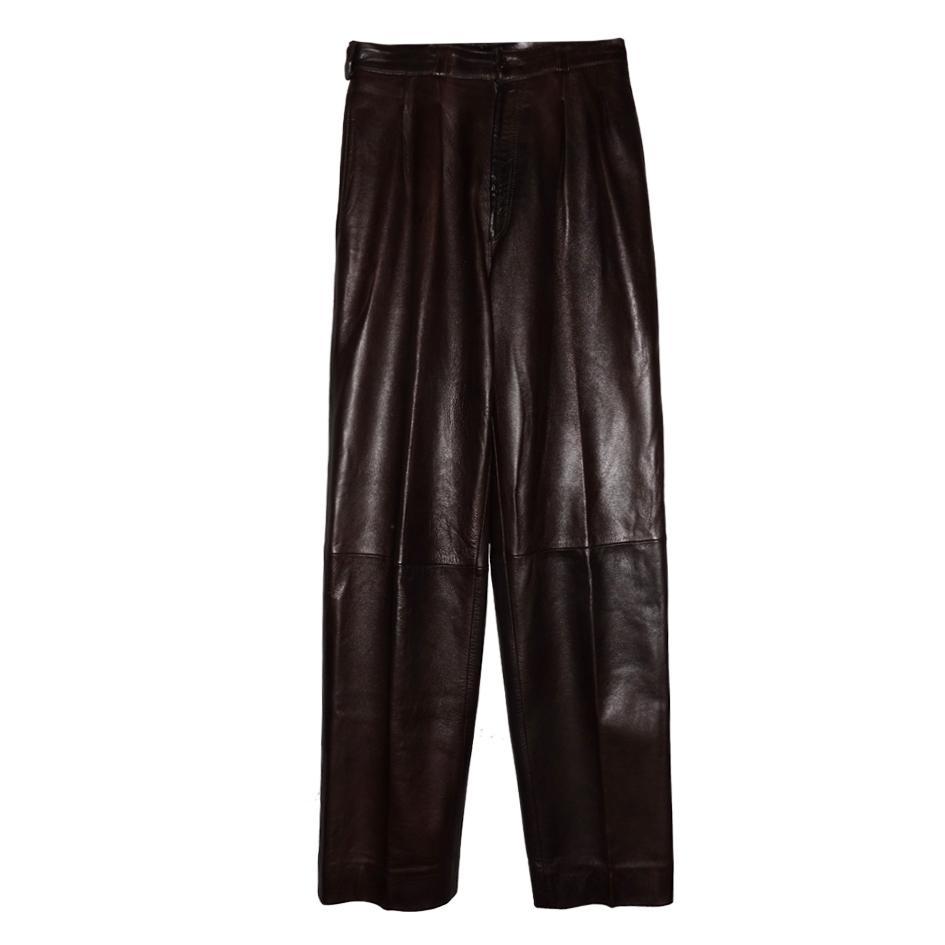 Pantalons - Pantalon en cuir YSL