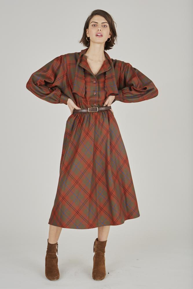 Robes - Robe à carreaux
