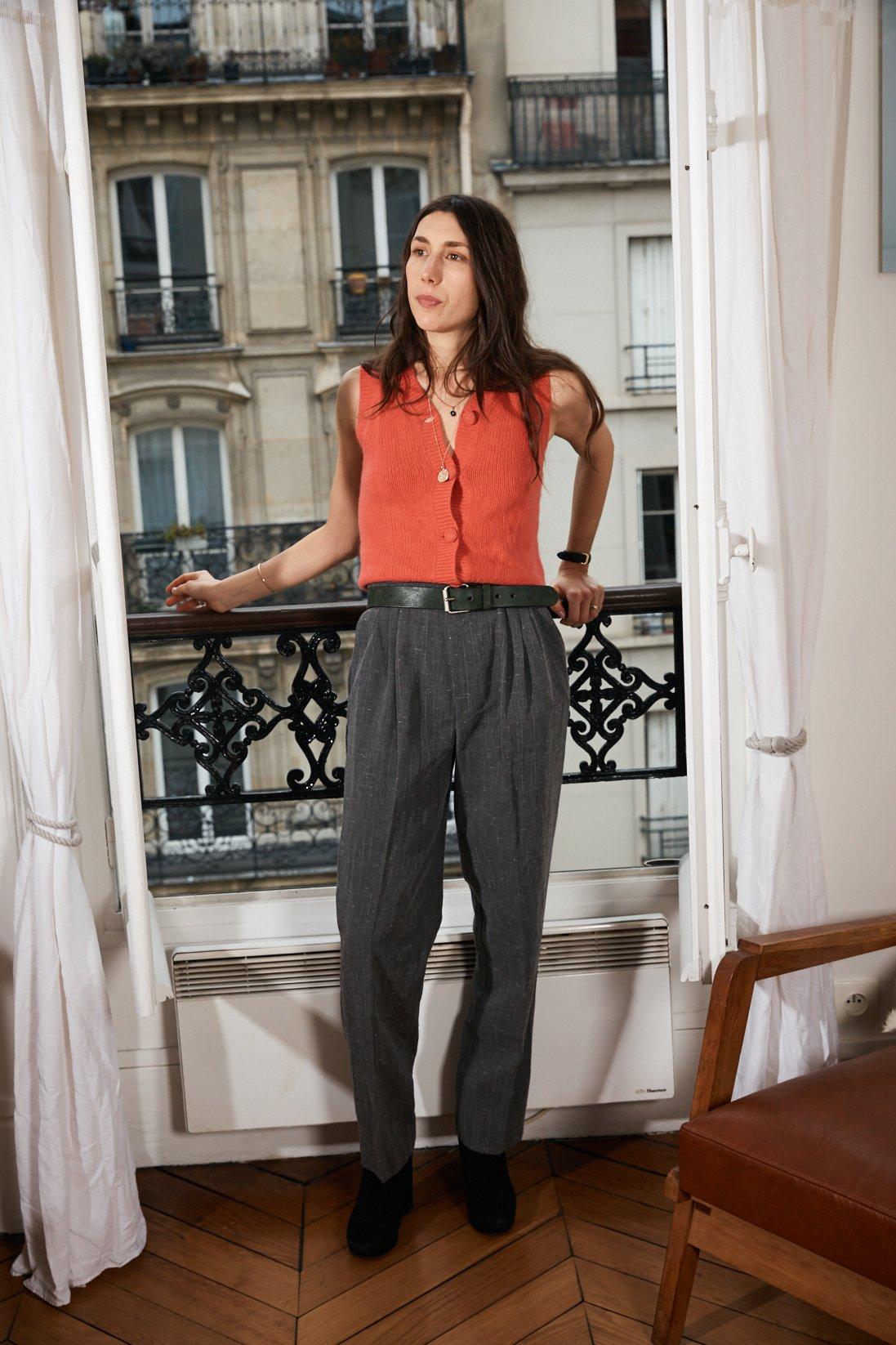 Pantalons - Pantalon gris chiné
