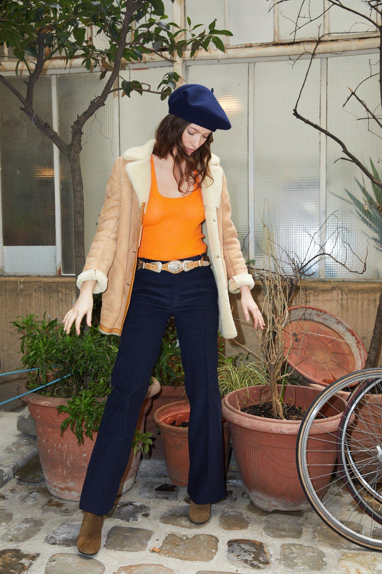 Pantalons - Pantalon flare velours côtelé