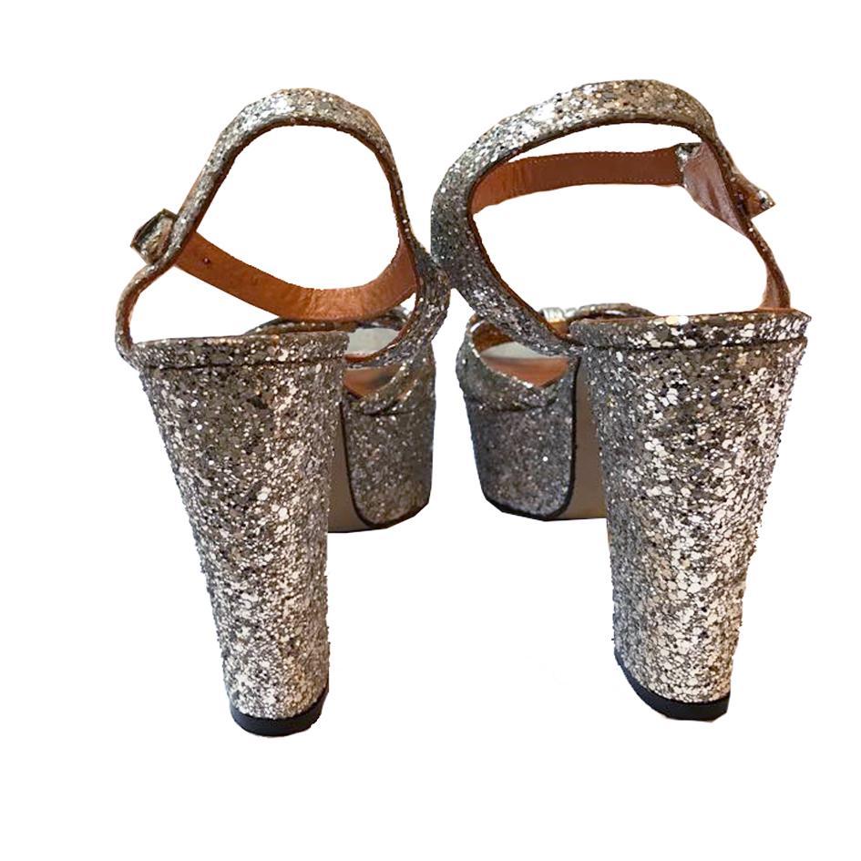 Accessoires - Sandales à talons pailletées