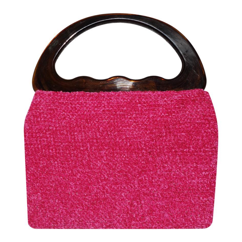 Accessoires - Sac en velours rose