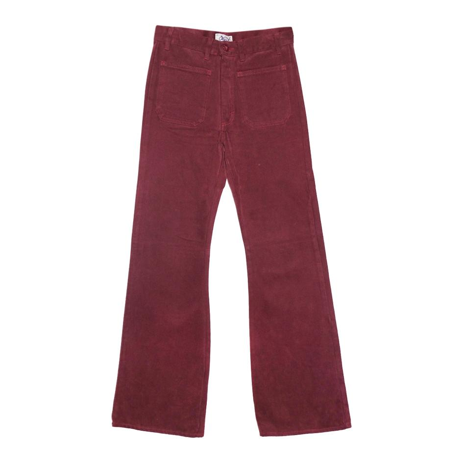 Pantalons - Flare bordeaux