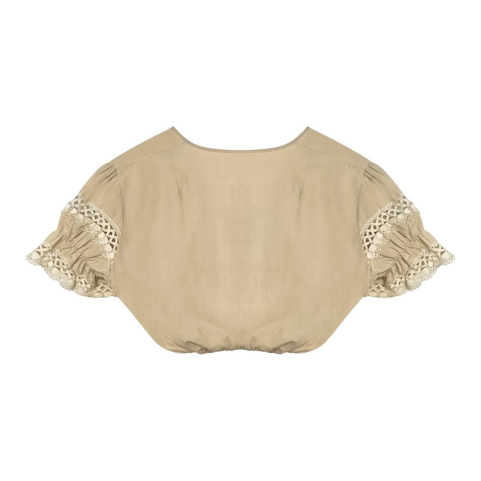 Tops - Blouse cropped brodée