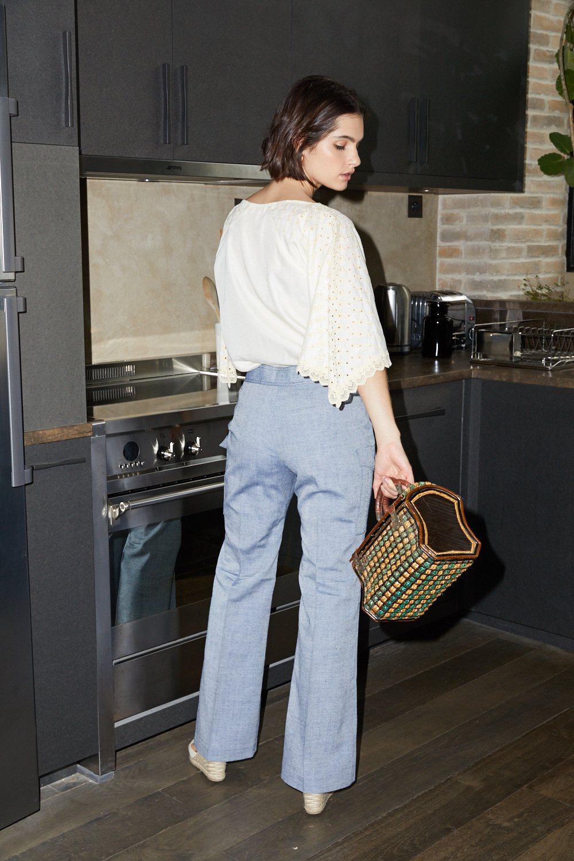 Pantalons - Pantalon gris à poches