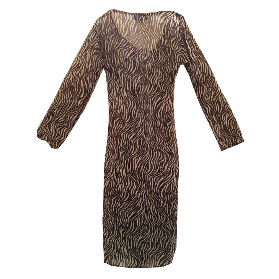 Robes - Robe de plage en soie