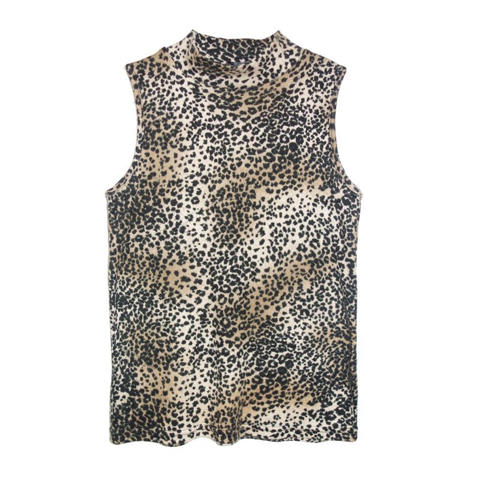 Tops - Top sans manches léopard