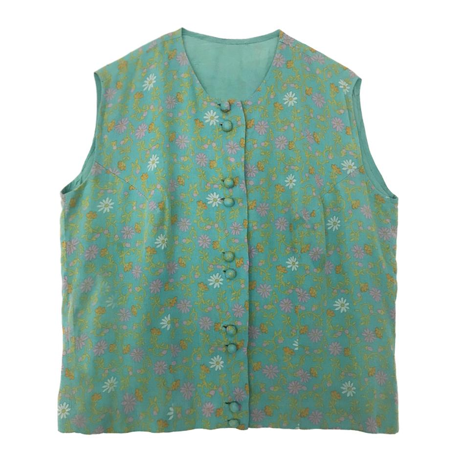 Tops - Top turquoise fleuri
