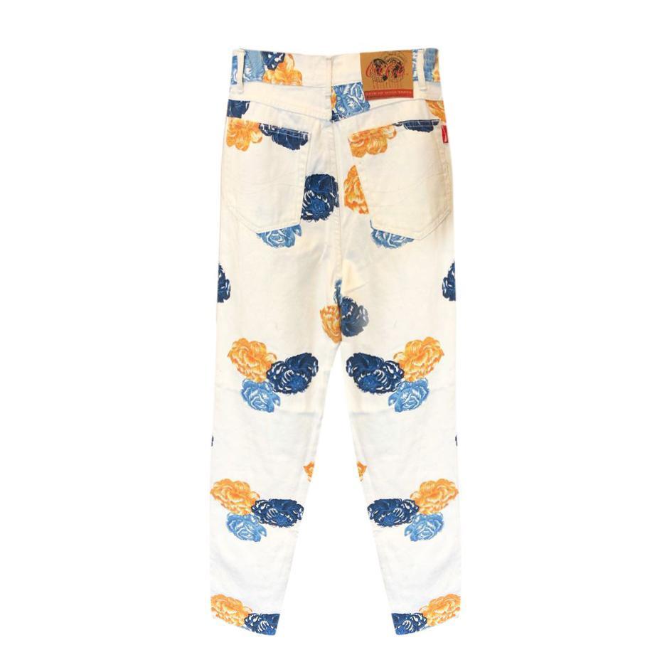 Pantalons - Jeans à fleurs