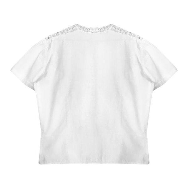 Tops - Blouse en coton et guipure