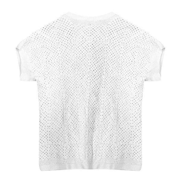 Tops - Top en crochet blanc