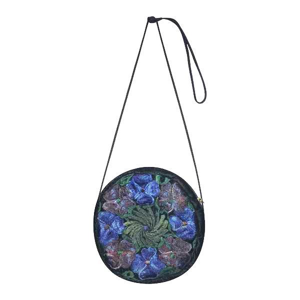 Accessoires - Petit sac rond en velours