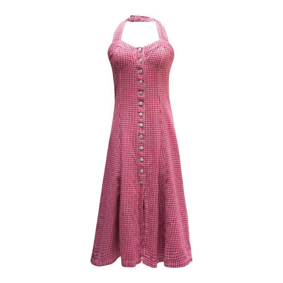 Robes - Robe dos nu vichy