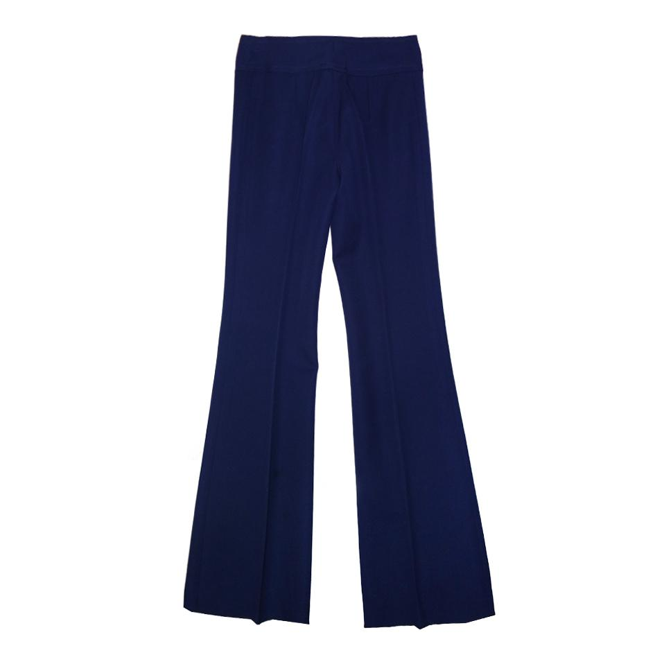 Pantalons - Pantalon flare bleu marine