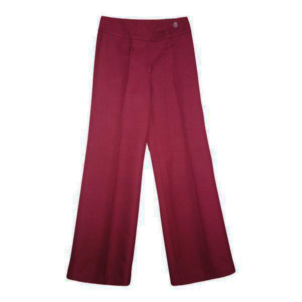 Pantalons - Pantalon flare bordeaux