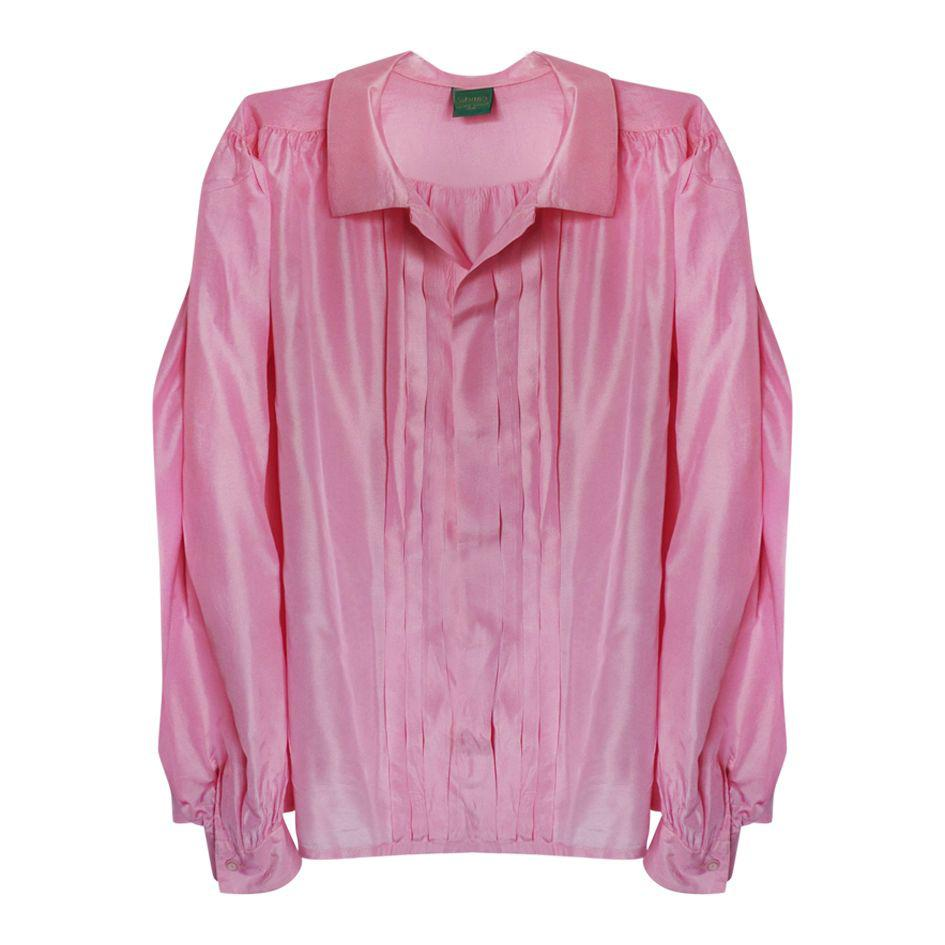 Tops - Chemisier en soie rose
