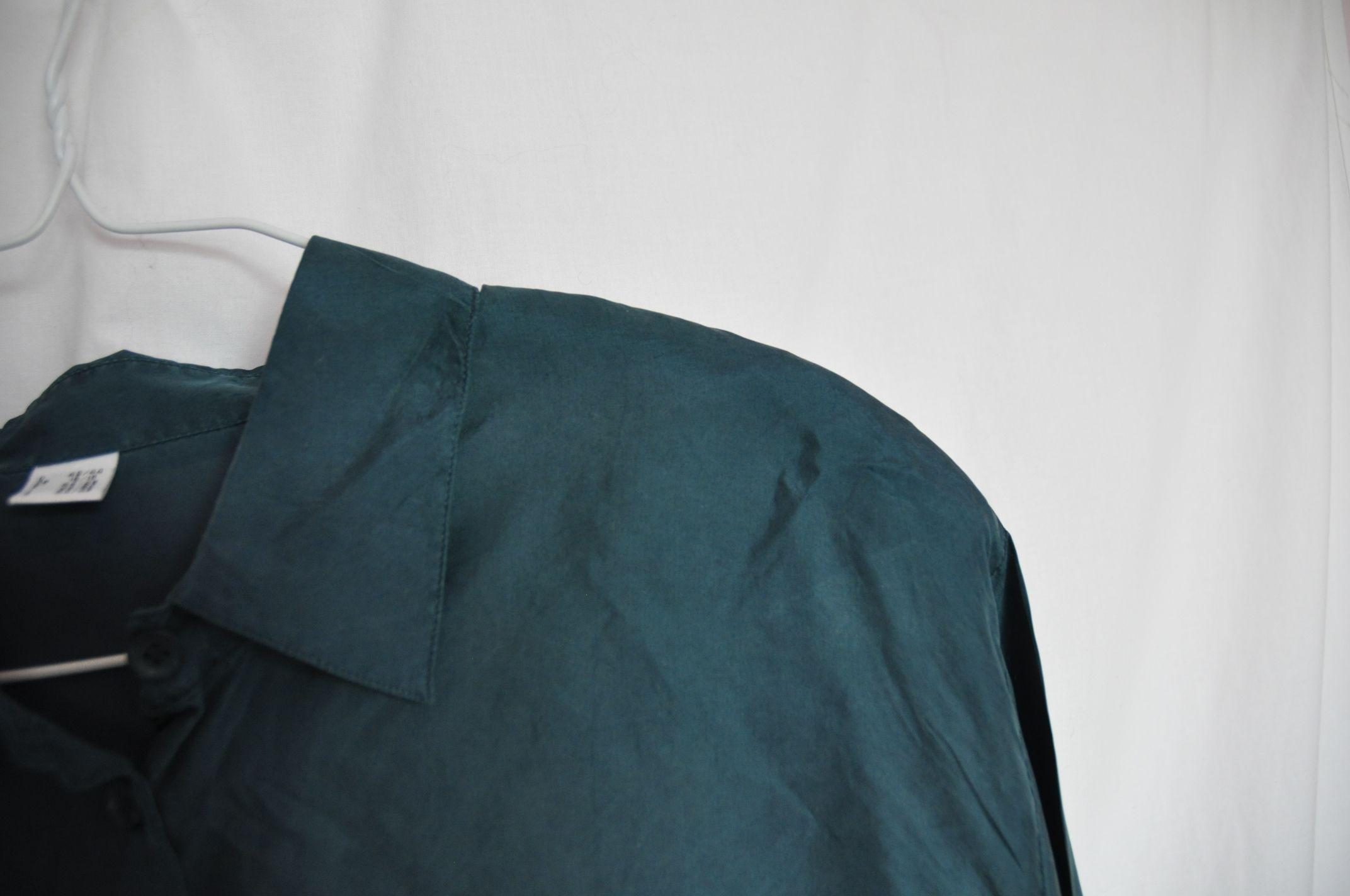 Tops - Chemisier en soie bleu canard