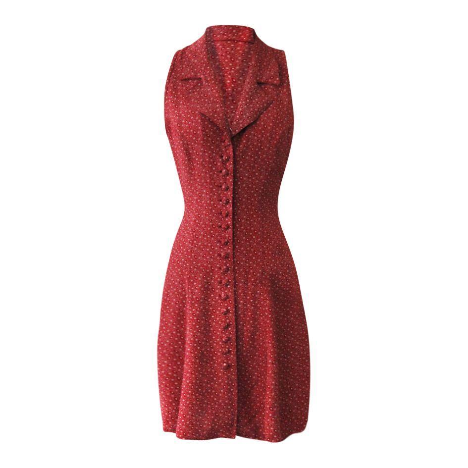 Robes - Robe rouge imprimée