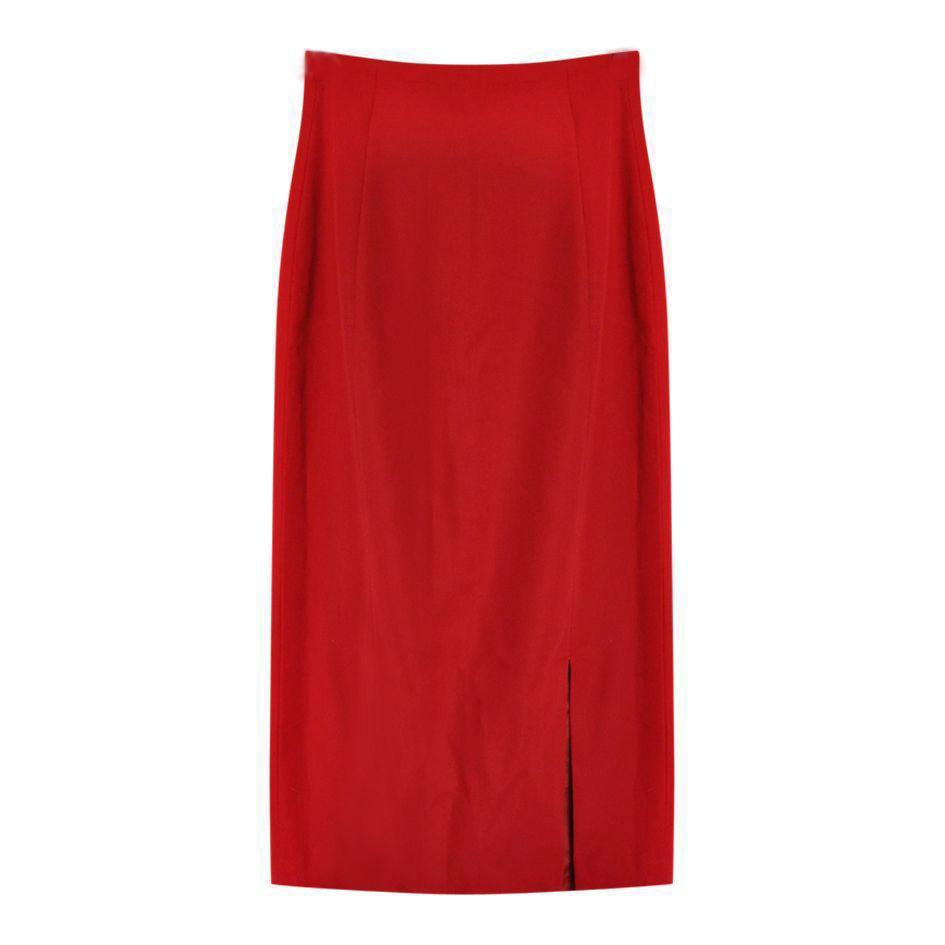 Jupes - Jupe crayon rouge