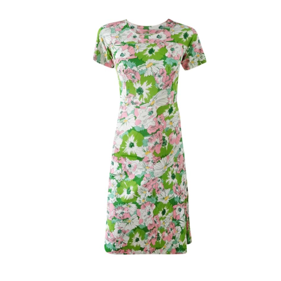 Robes - Robe fleurie verte