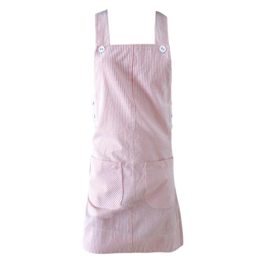 Robes - Robe salopette rayée