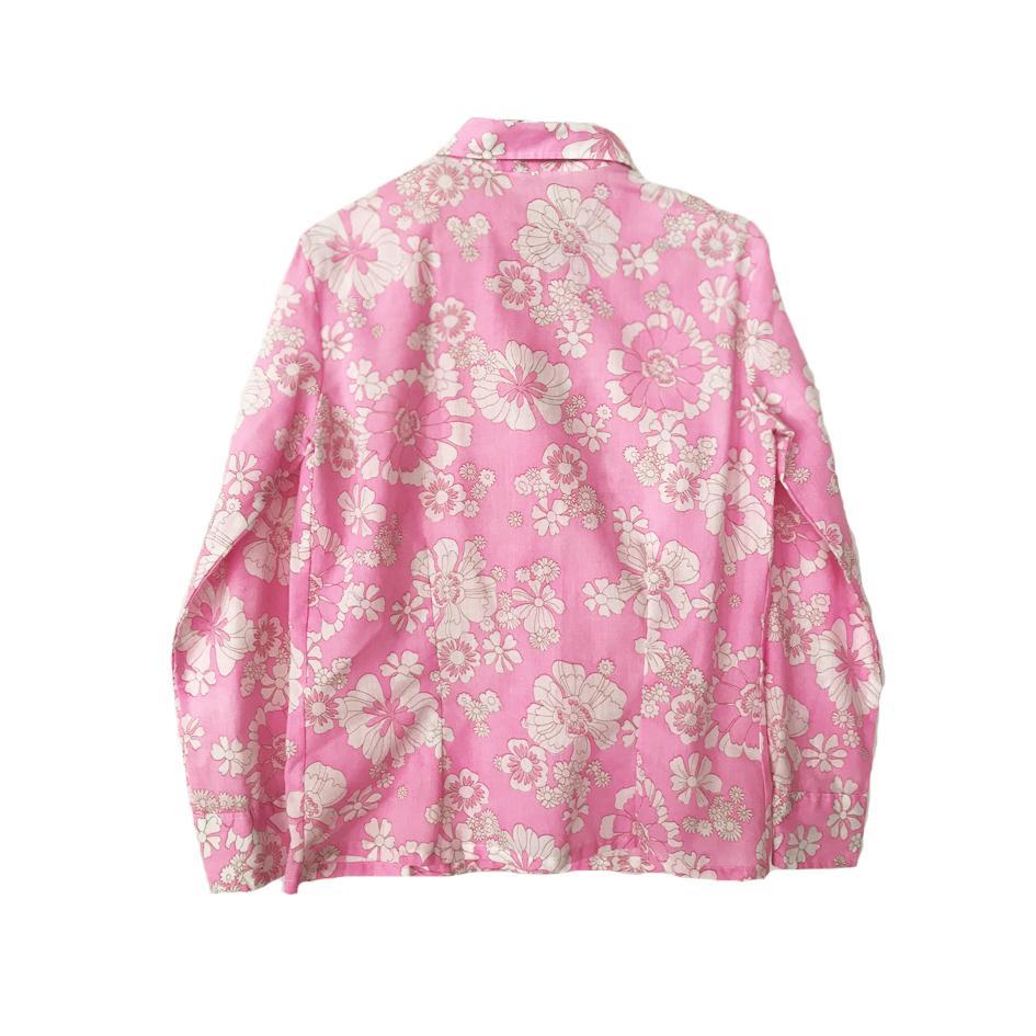 Tops - Chemisier rose à fleurs