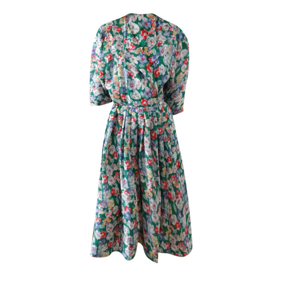 Robes - Robe portefeuille fleurie