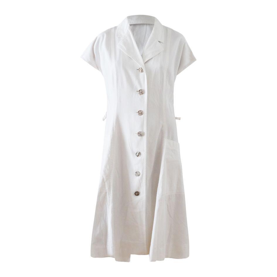 Robes - Robe chemisier blanche