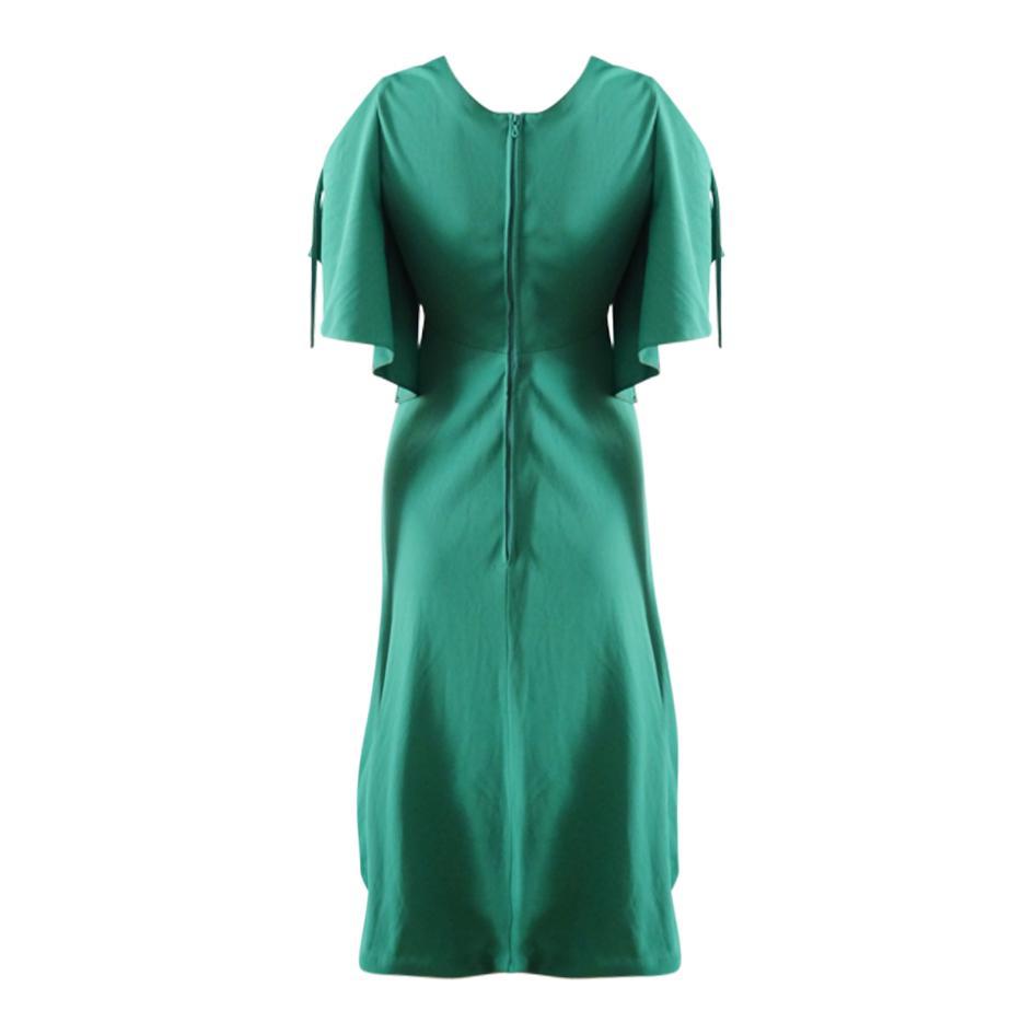 Robes - Robe verte taille empire