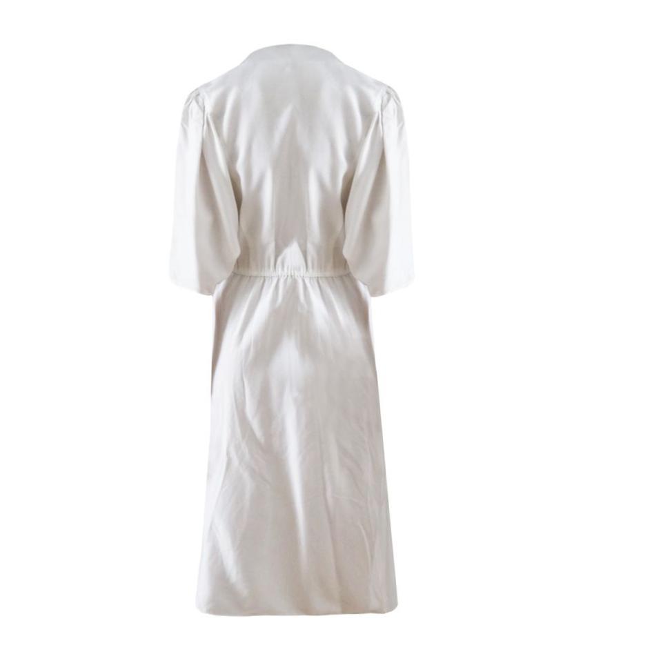Robes - Robe midi blanche