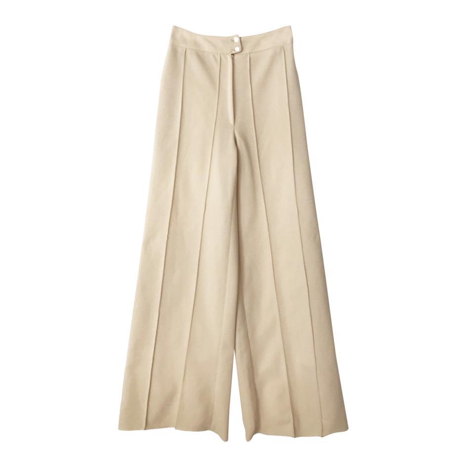 Pantalons - Pantalon flare nude