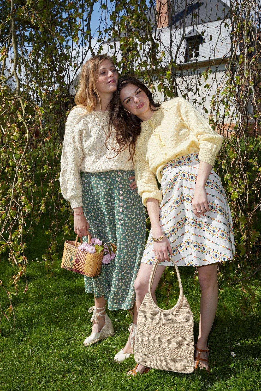 Pulls - Cardigan en laine jaune