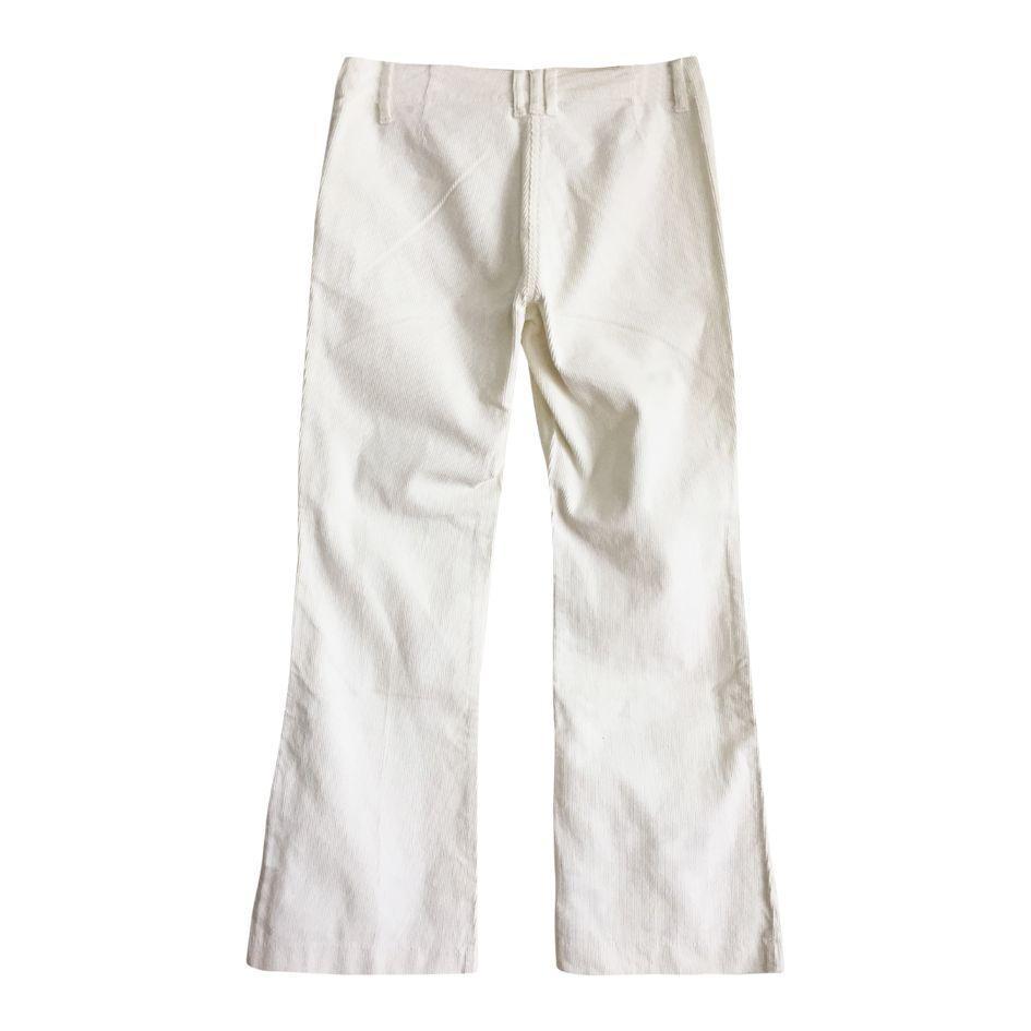 Pantalons - Flare en velours blanc