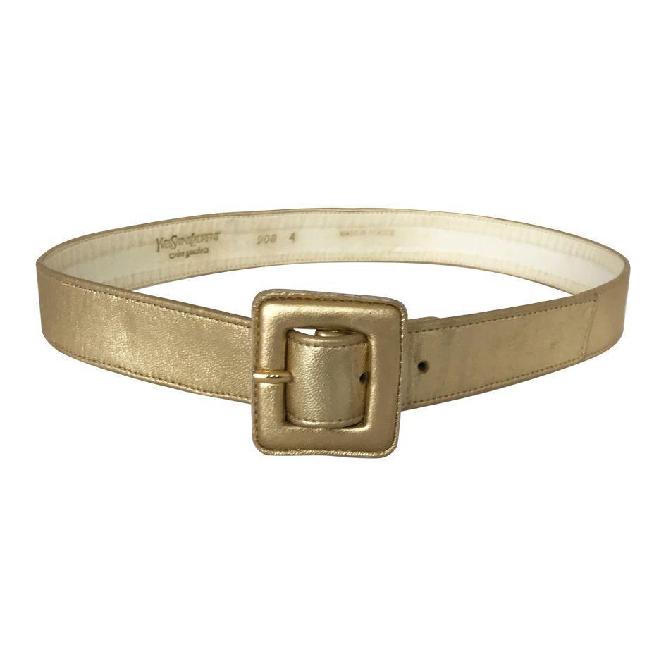 Accessoires - Ceinture gold Yves Saint Laurent