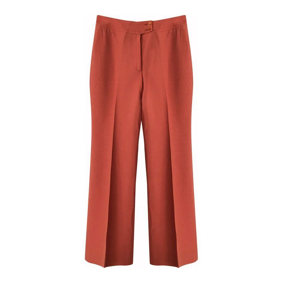 Pantalons - Flare corail