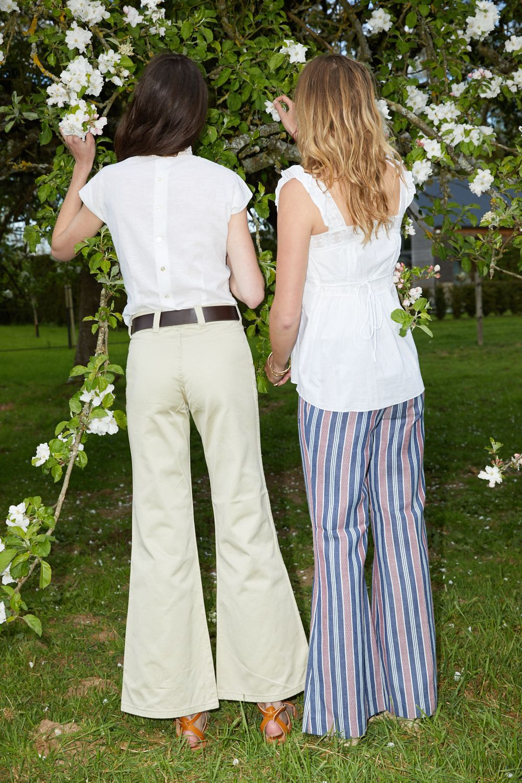 Pantalons - Pantalon flare rayé
