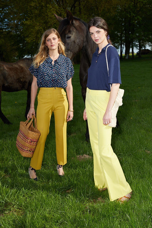 Pantalons - Pantalon flare moutarde