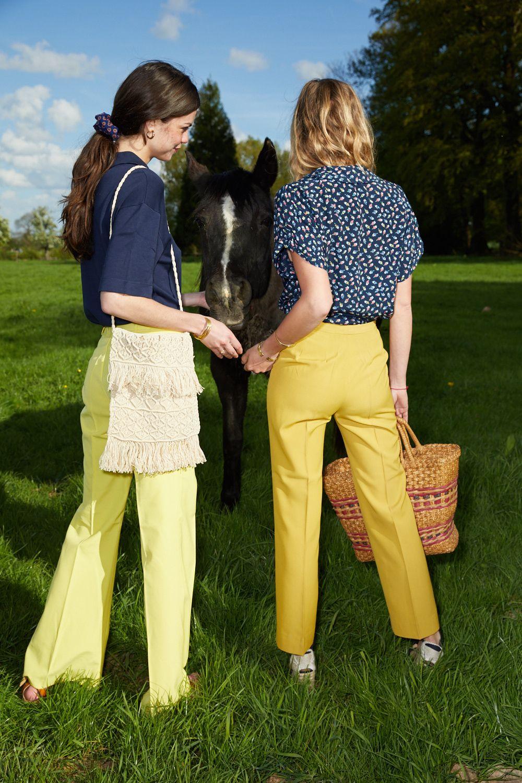 Pantalons - Pantalon flare jaune