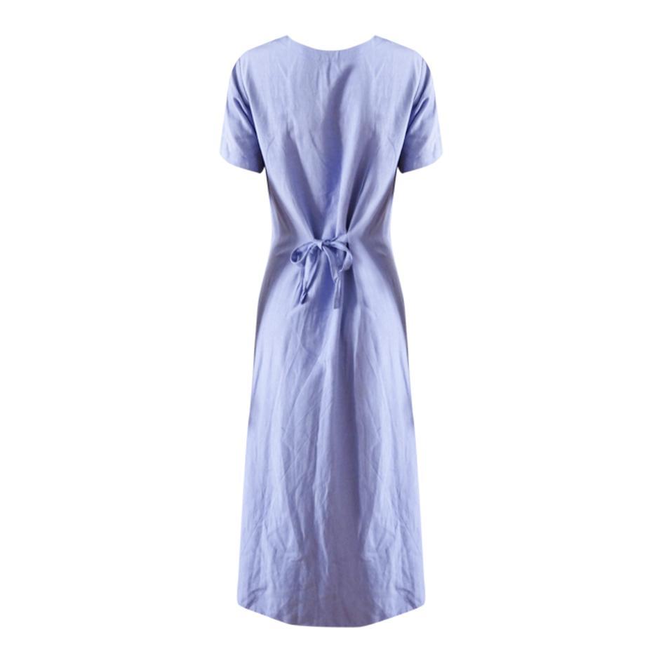 Robes - Robe longue lavande
