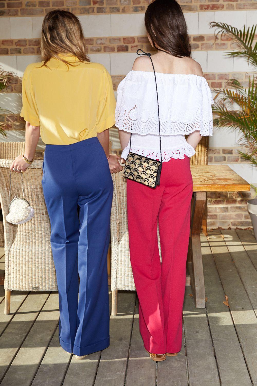 Pantalons - Flare fuchsia