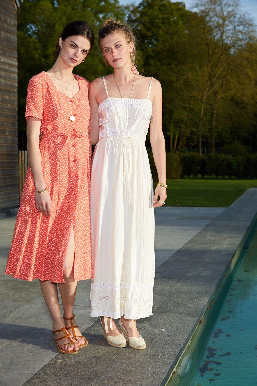 Robes - Robe longue en soie