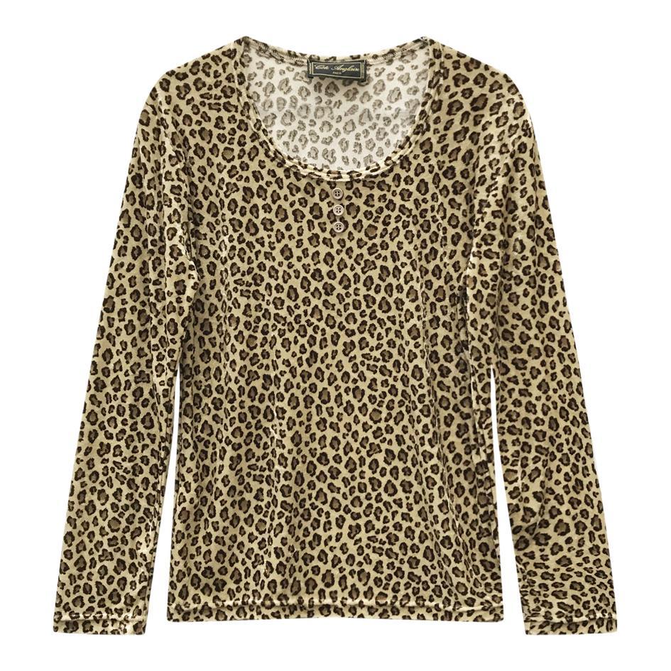 Tops - Top en velours léopard