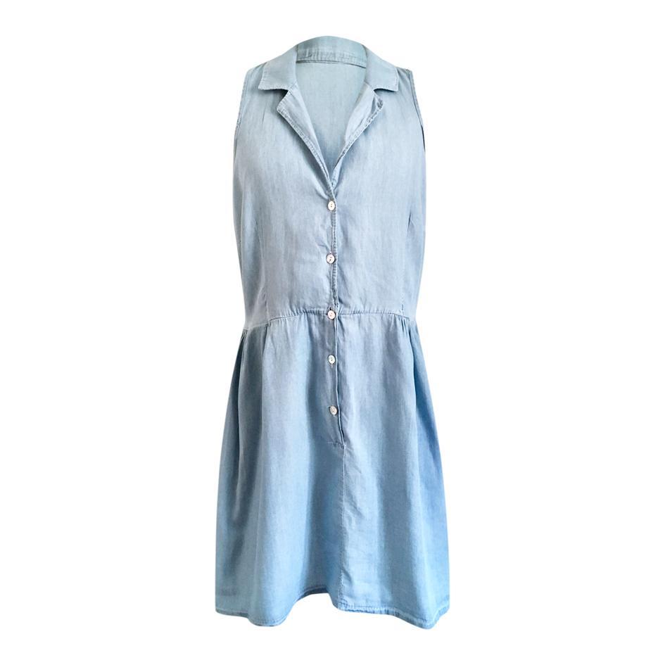 Robes - Robe en coton effet denim