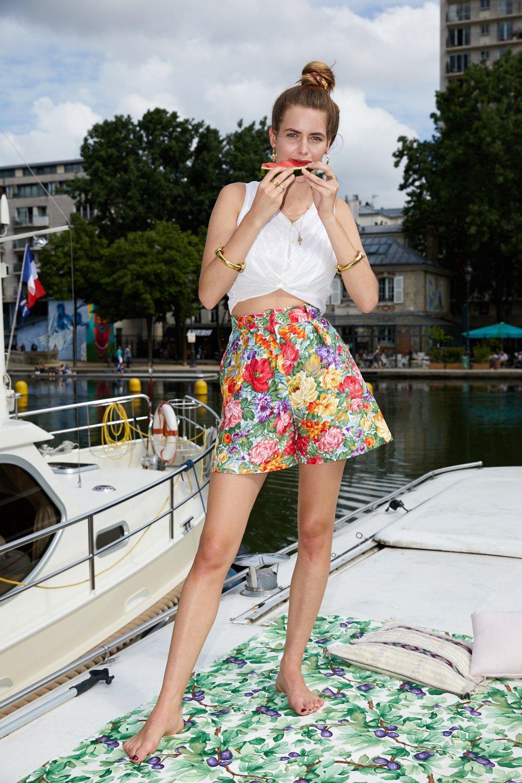 Shorts - Short à fleurs