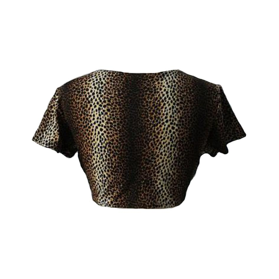 Tops - Cropped top léopard
