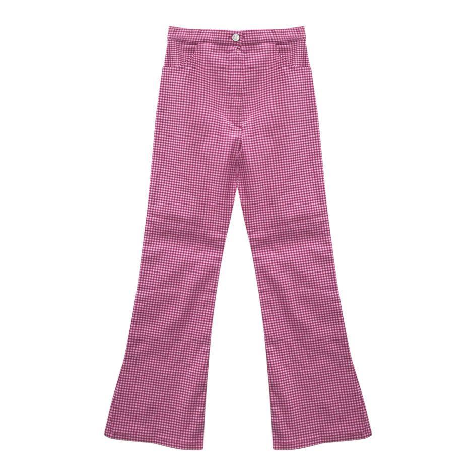 Pantalons - Pantalon stretch vichy