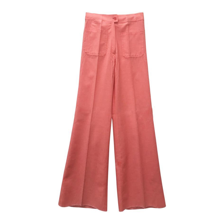 Pantalons - Pantalon flare corail