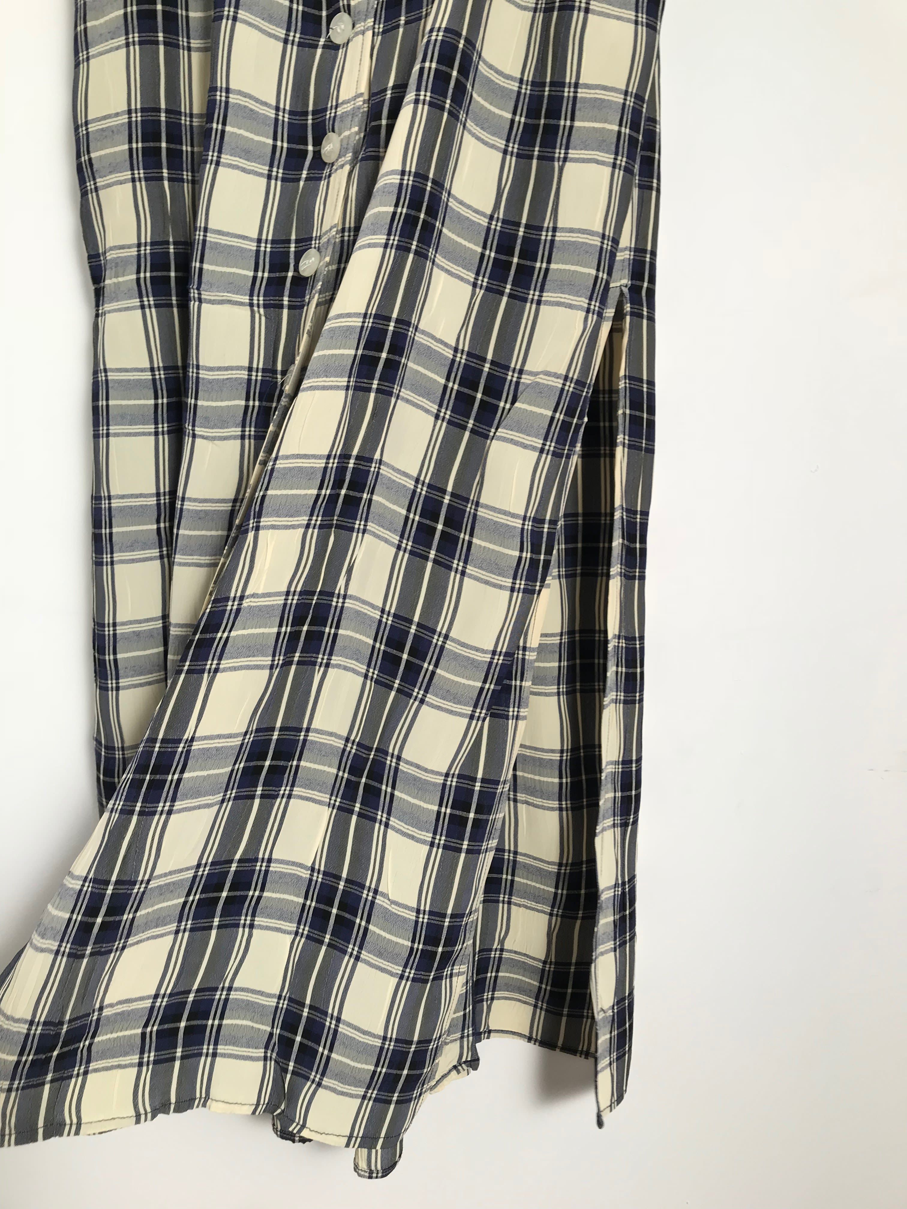 Robes - Robe sans manches à carreaux