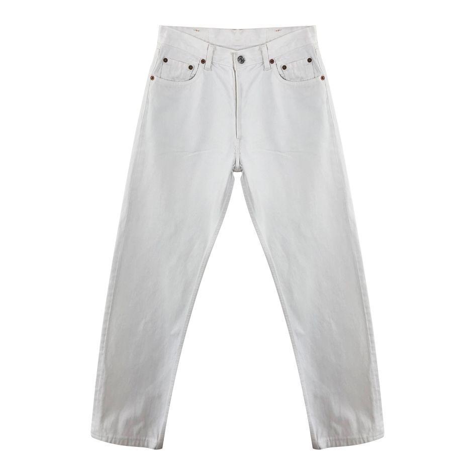 Pantalons - Jean Levi's 501 blanc